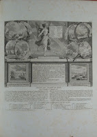An illustrated page of text showing Liberty at the signing of the Treaty of Paris.