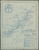 A hand-drawn map showing a route for the Appalachian Trail.