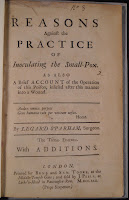 "A title page for ""Reasons against the Practice of Inoculating the Small-Pox."""