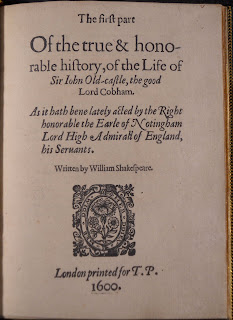"""A title page for """"The True & Honorable History."""""""