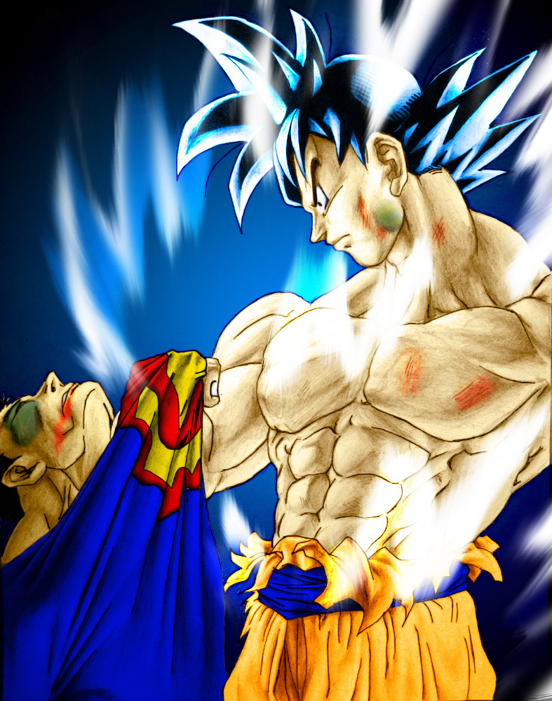 DRAGON BALL Z COOL PICS: SUPER MAN VS GOKU