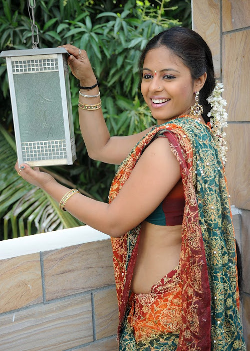 sunakshi plumpy in saree cute stills