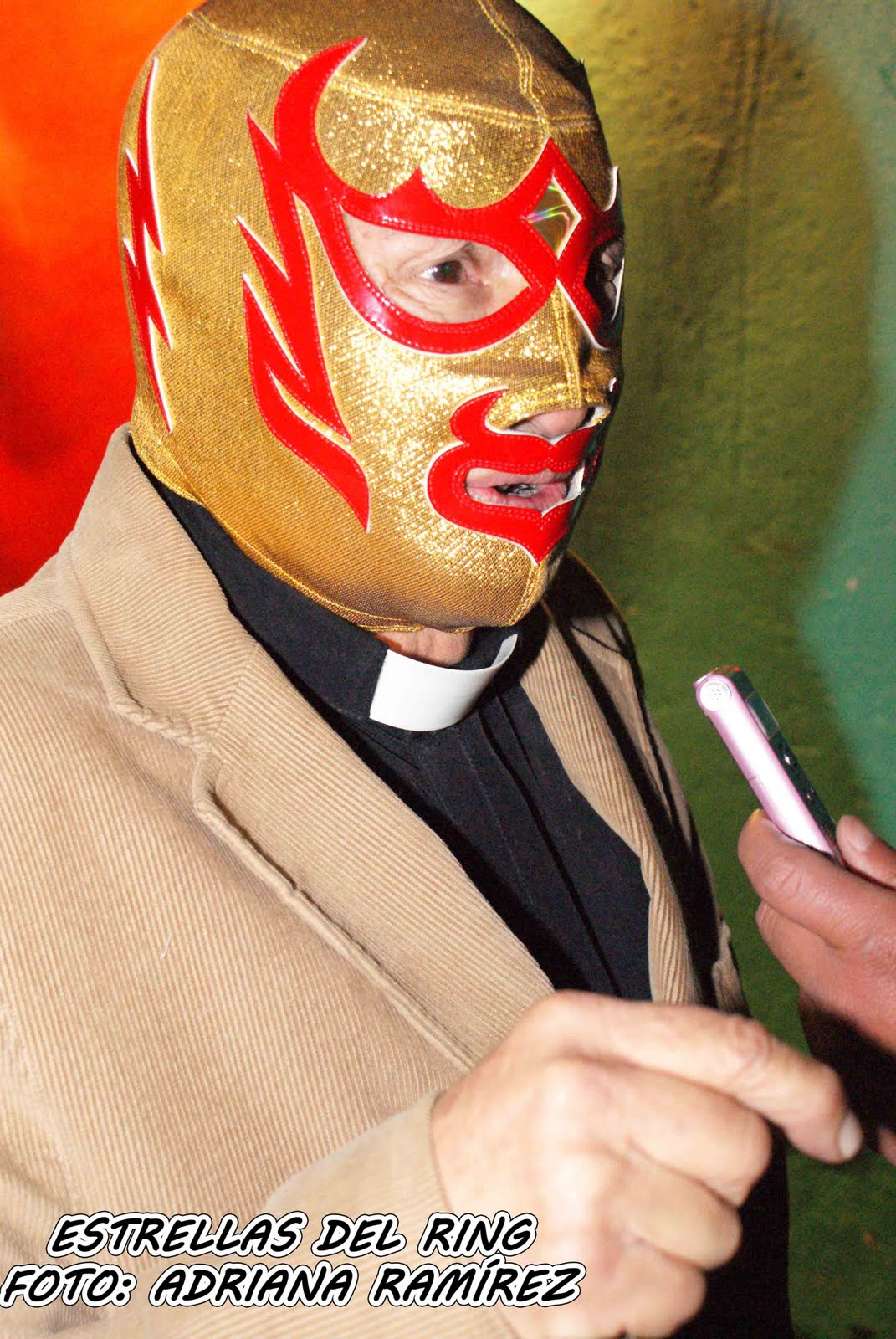 Lucha Libre Real Fray Tormenta The Real Nacho Libre Priest Mexican