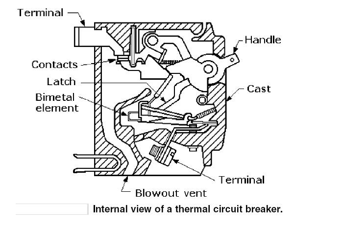 electrical circuit breaker diagrama de cableado