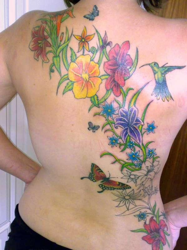Flower Back Tattoo Ideas: Flower - Flower Tattoo - TATTOO >> Tattoo Picture