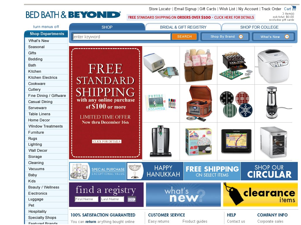 Bed Bath And Beyond Website