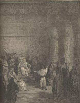 José interpretando sonhos perante Faraó, de Gustav Doré.