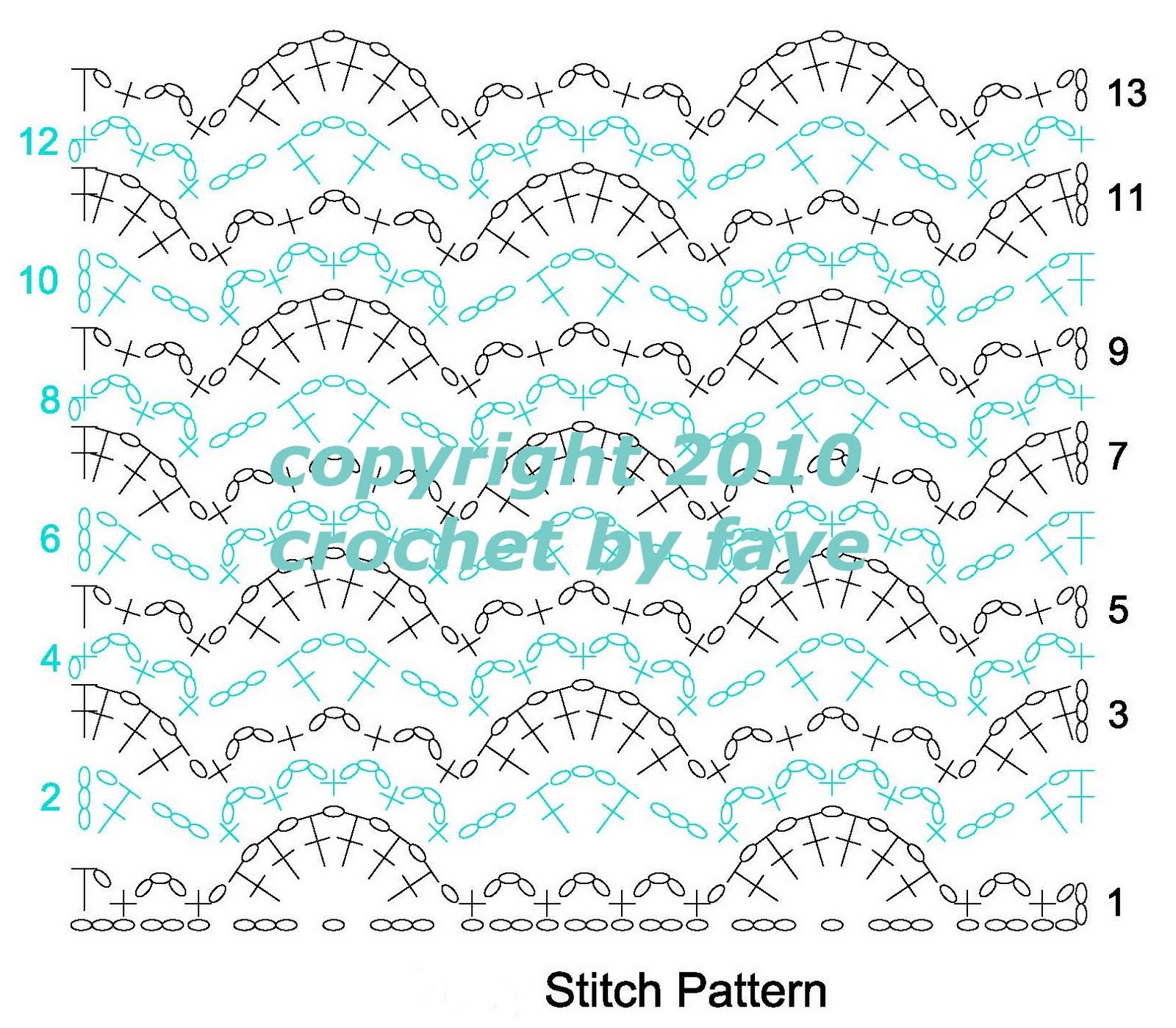 diagram crochet pattern labeled leaf structure by faye lucine in diagrams