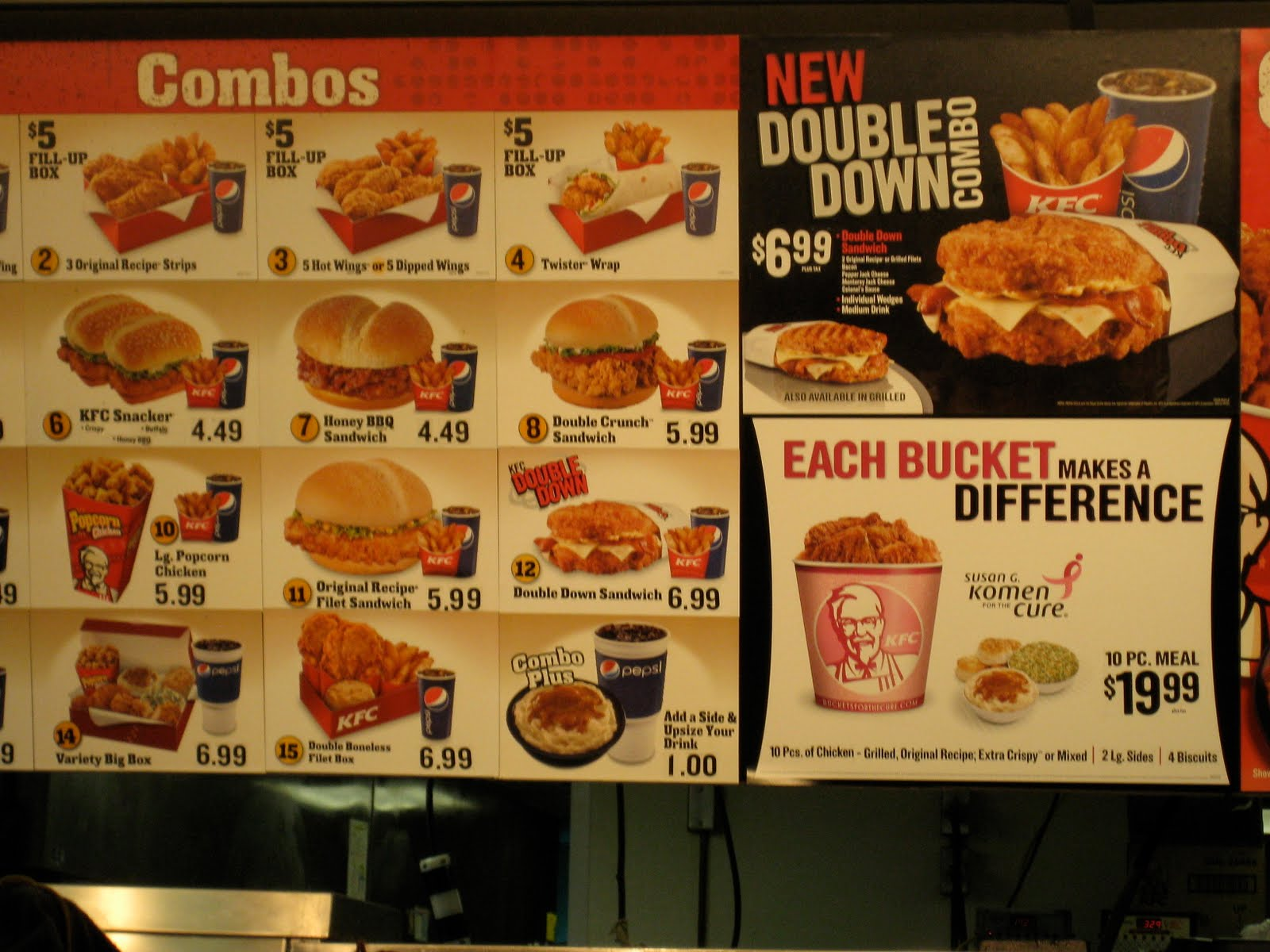 KFC Kentucky Fried Chicken Menu - photo#13