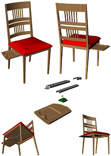 Novità: portaoggetti estraibile per sedie