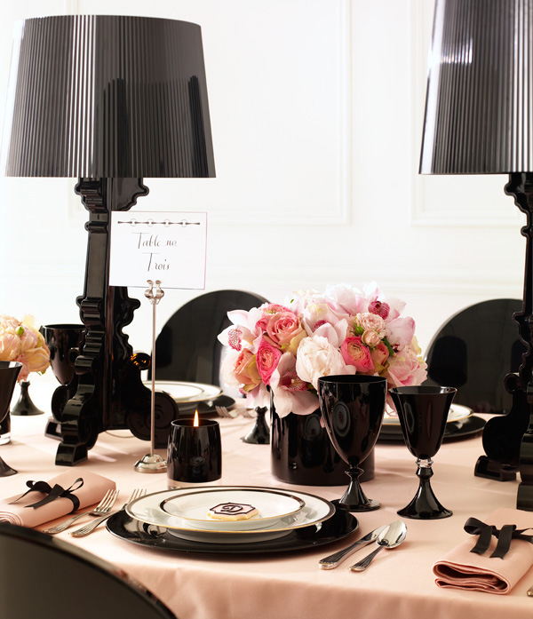 Pink And Black Wedding Ideas: Sara Baig Designs: Holiday Ideas: Tablescapes