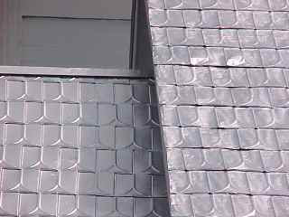 Installing New Metal Shingles On Embossed Tin Roof Roof
