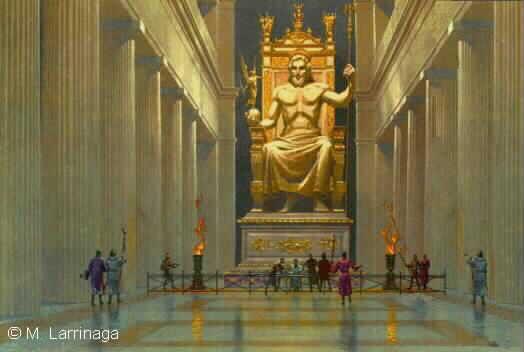 Statuia+Lui+Zeus+Din+Olimp Cele 7 Minuni Ale Lumii