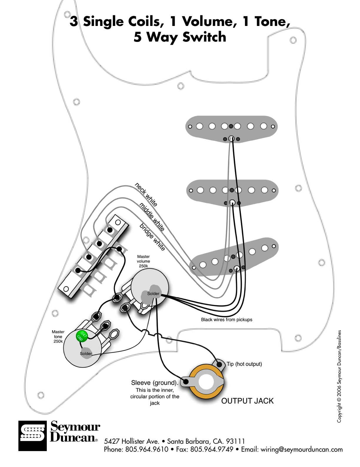 Fender Strat Hot Rail Wiring Diagrams