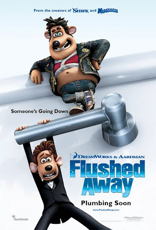 Poster Of Flushed Away In Dual Audio Hindi English 300MB Compressed Small Size Pc Movie Free Download Only At worldfree4u.com