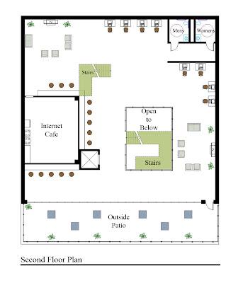 Internet Cafe Floor Plan Design