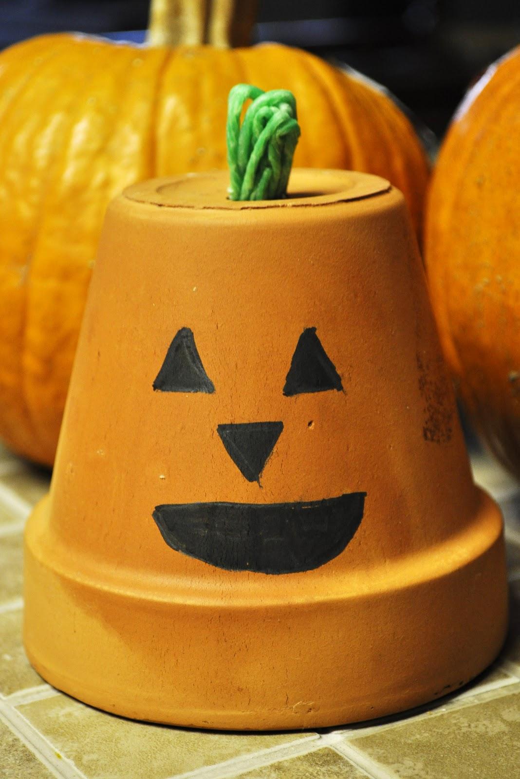 Clay Pot Jack O Lantern