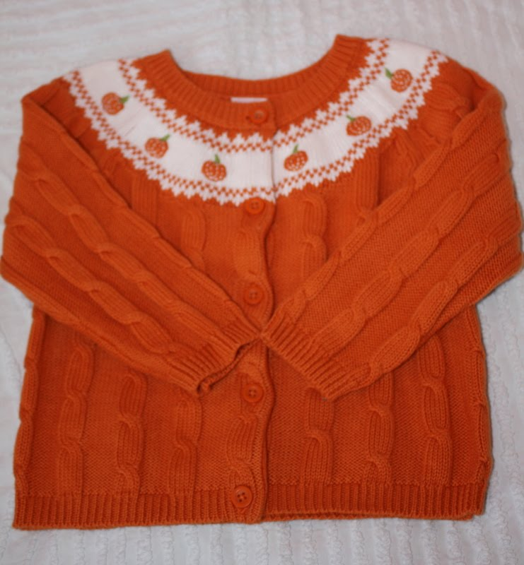 37a24a12e89 strawberry wellies   dinosaurs  SOLD  Gymboree Pumpkin Cardigan Sweater