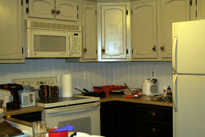 Black Wainscoting Kitchen