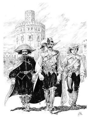 El Capitán Alatriste, Iñigo Balboa y Don Francisco de Quevedo por Mundet