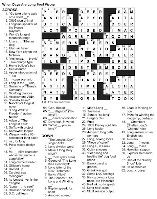 The New York Times Crossword in Gothic: The Longest Day