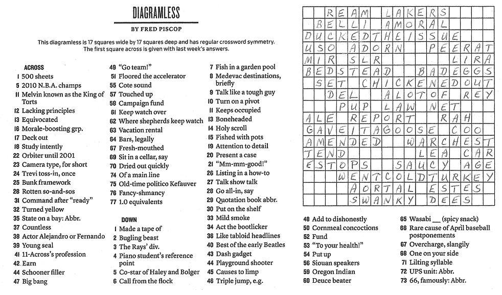 The New York Times Crossword in Gothic: 07.25.10 — Birds