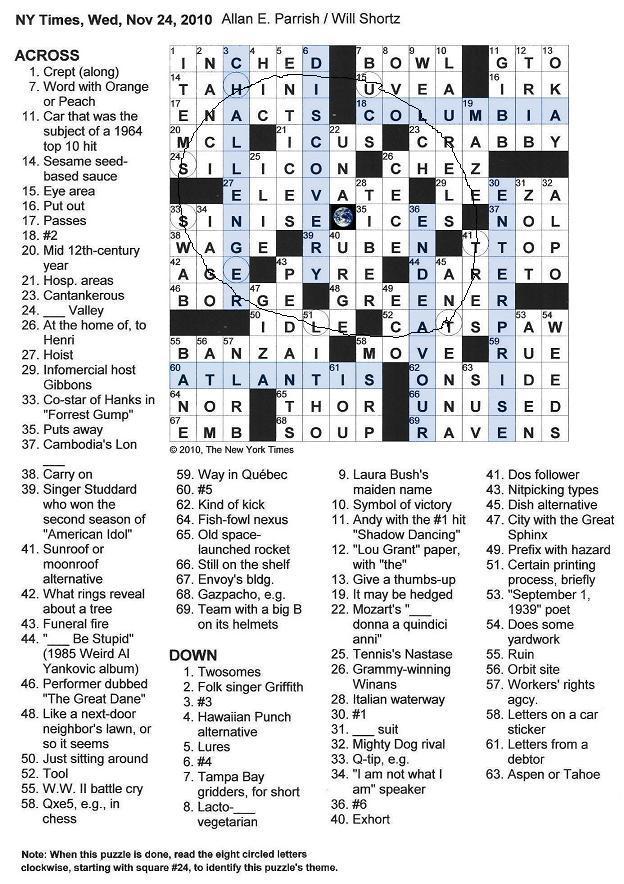 title of us lunar spacecraft crossword - photo #35