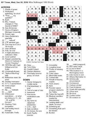 The New York Times Crossword in Gothic: 12.08.10 — Secret
