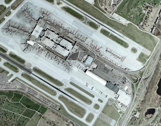 Satellite view of Minneapolis St Paul airport
