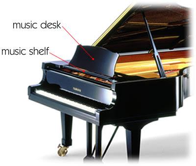 piano desk construction grand piano