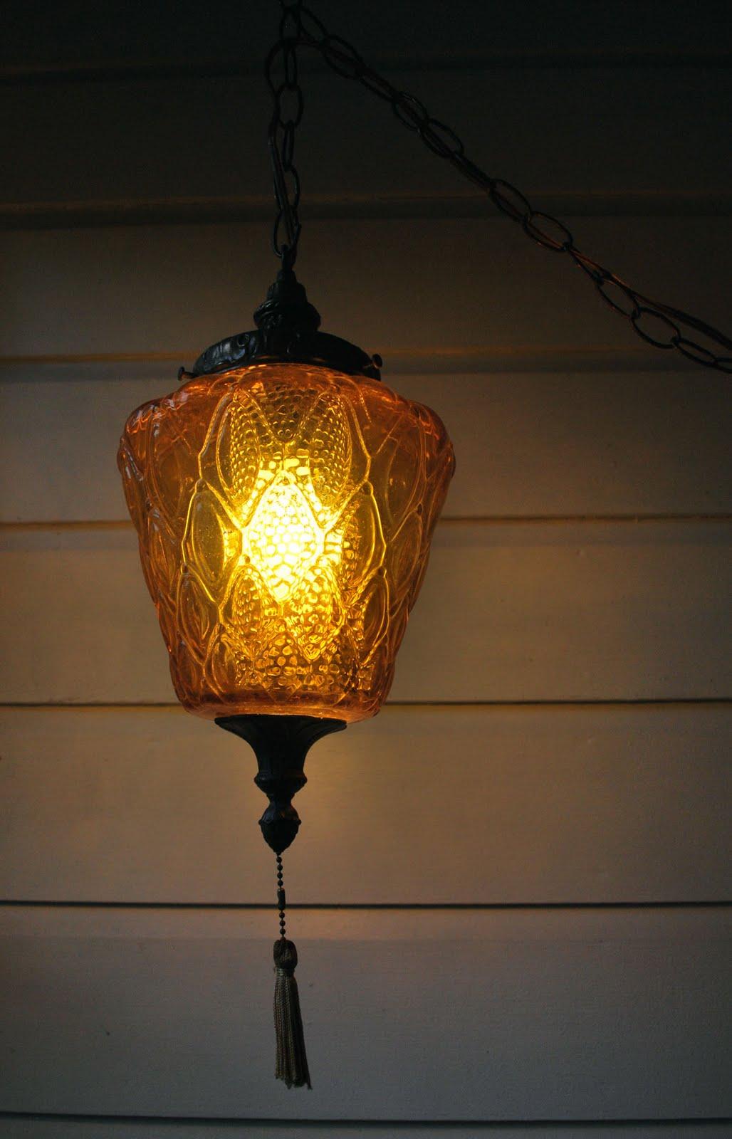 Junk2funk Vintage Honeycomb Swag Lamp