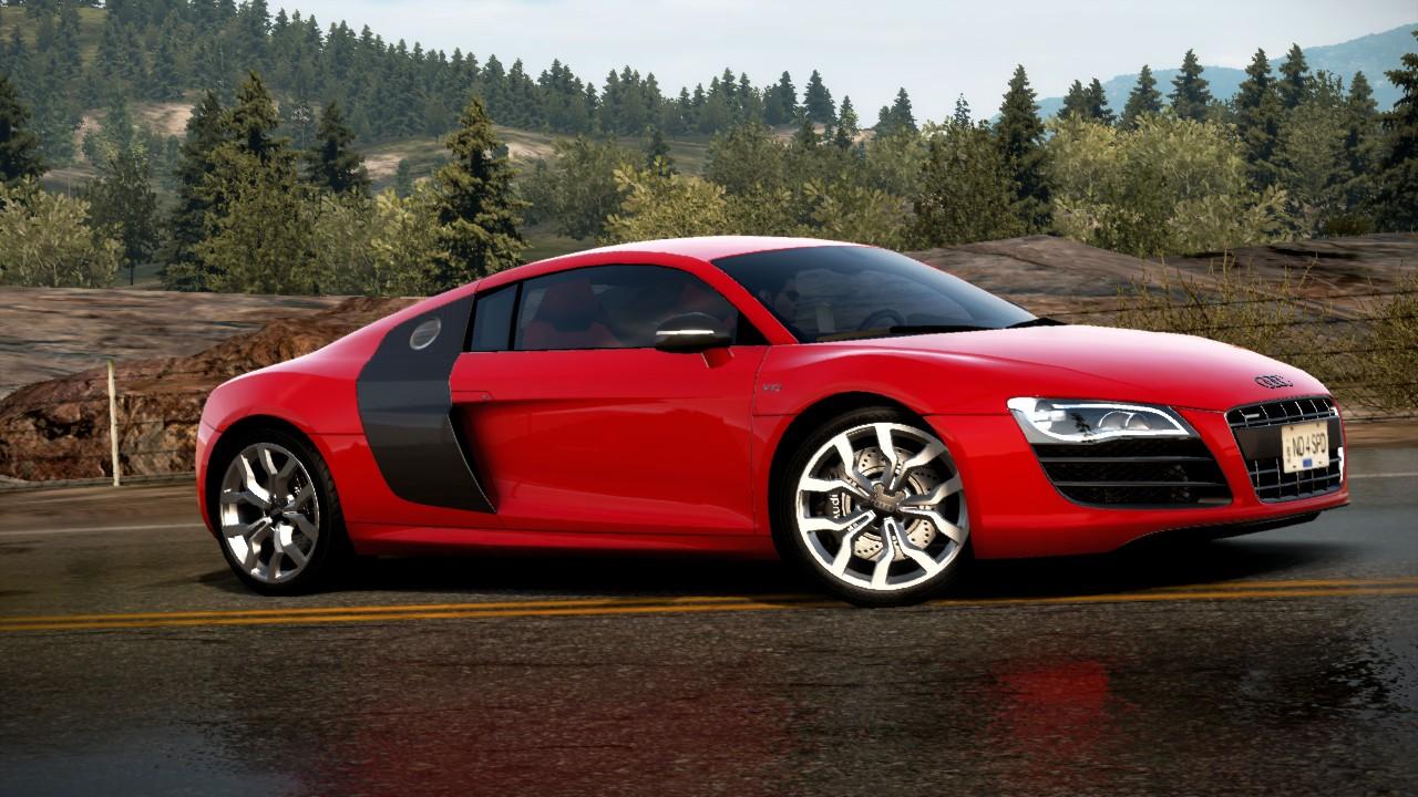 obi 39 s world wide web of cars nfs hot pursuit car profiles audi r8 coup 5 2 fsi quattro. Black Bedroom Furniture Sets. Home Design Ideas