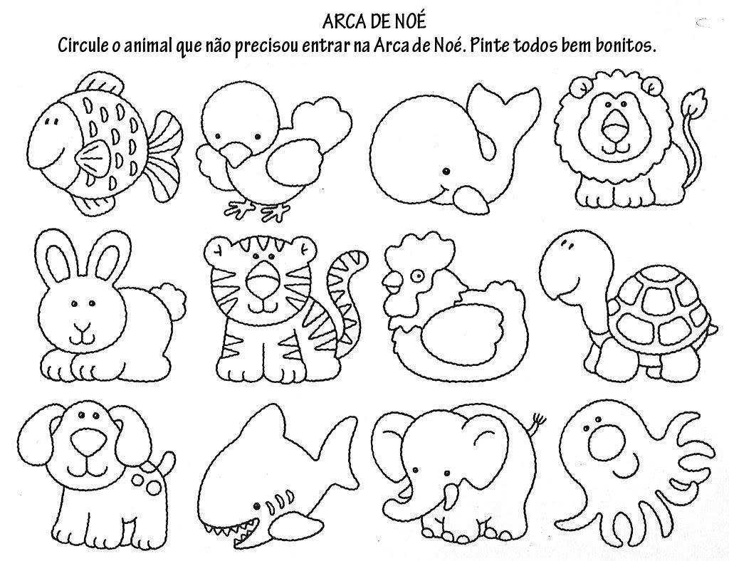 Dibujos Para Colorear Del Arca De Noe Para Imprimir: Animales Del Arca De Noe Para Colorear