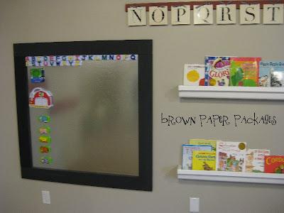 framed magnet board & white board} - Simply Kierste Design Co.