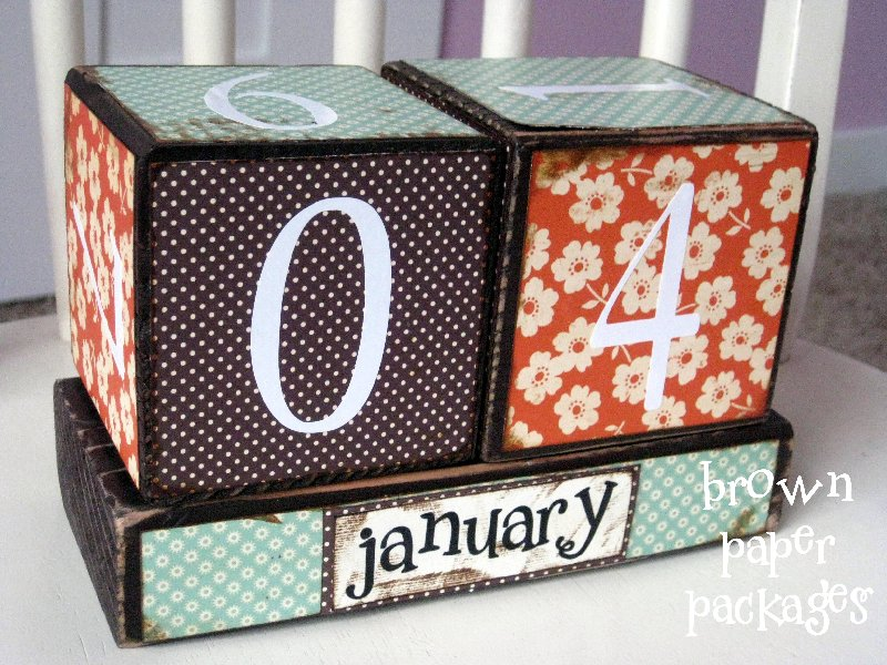 Calendar Blocks Simply Kierste Design Co
