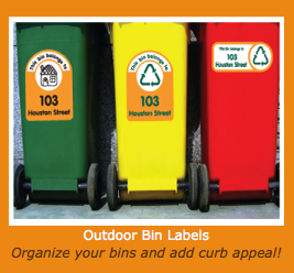 Outdoor Bin Label Pack & Home Office Labels from Lovable