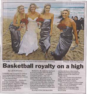 Sunday Telegraph Wedding Story