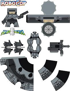 Brinquedo De Papel Robocop