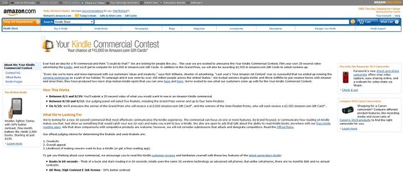 Your Kindle Commercial Contest on amazon com/ykcc | Today24News
