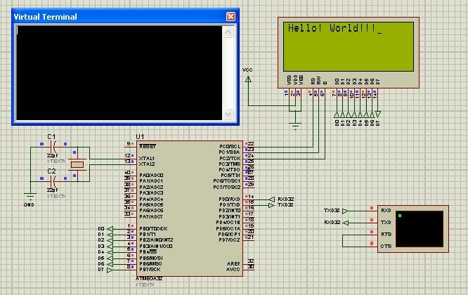 Embedded Systems Protues Simulation Of Interfacing Lcd
