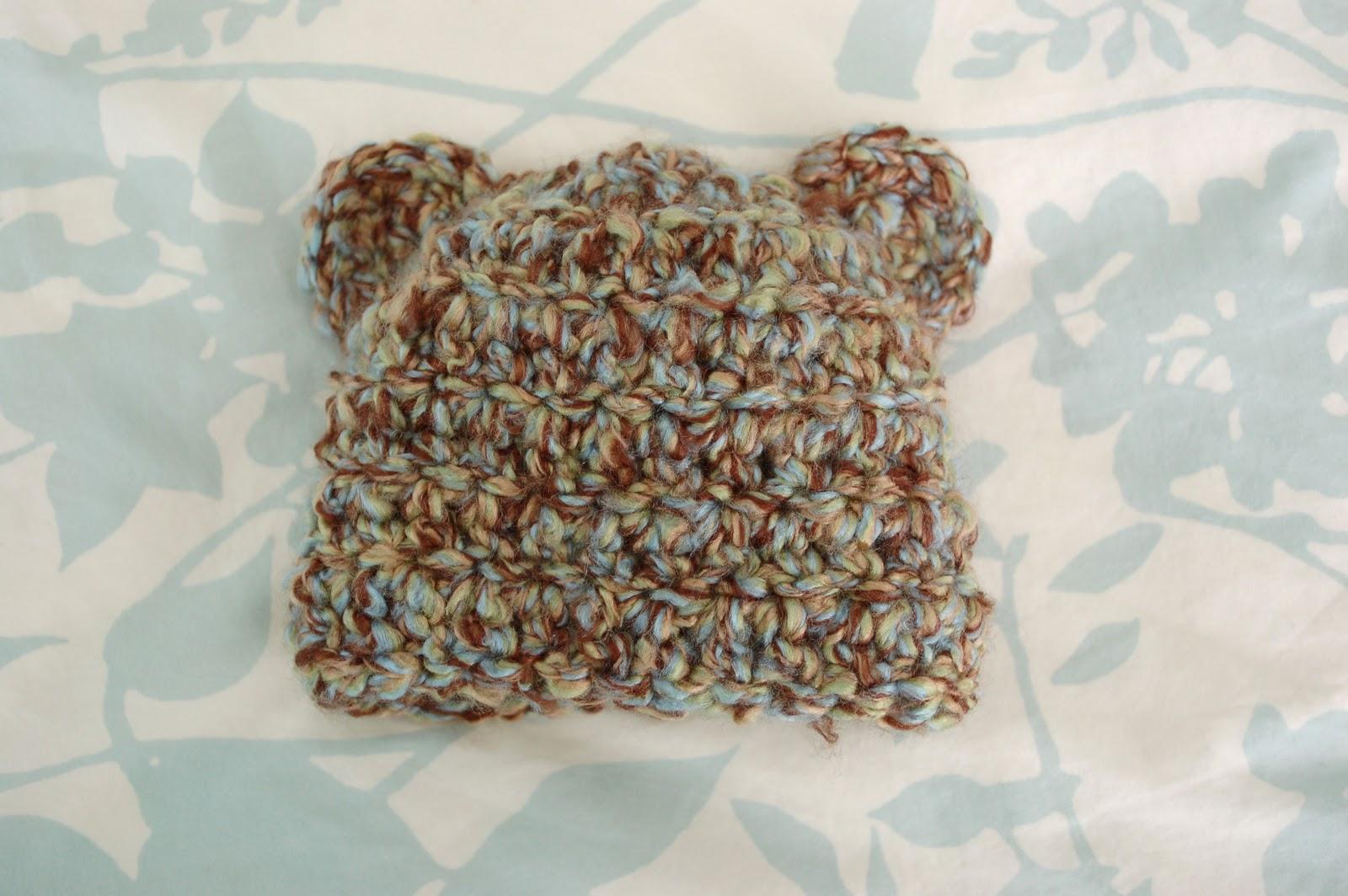 Alli Crafts  Free Pattern  Fuzzy Bear Newborn Hat With Ears eb90627037d