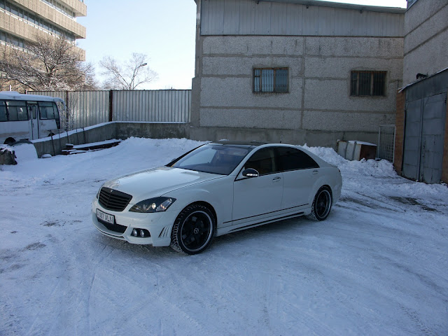 mercedes w221 wald white