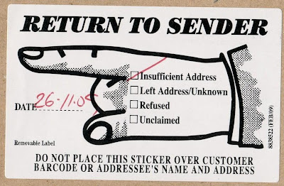 stamps in miniature world return to sender letter australia
