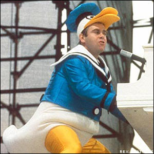 elton john in a duck suit picture
