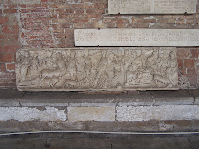 Sarcophagus with the indian triumph of dionysus