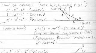 My online math class review - notes from trigonometry section