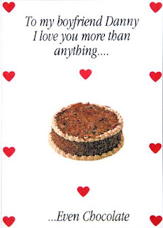 romantic chocolate cake cards