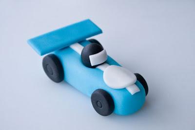 Race Car Cake Topper Tutorial
