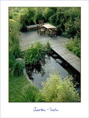 Gartenblog geniesser garten wasser im garten pool teich bachlauf quellstein - Gartenteich kindersicher ...
