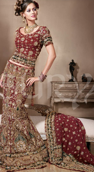 New Fashion Style Hollywood Celebrities Lengha Collection-7259